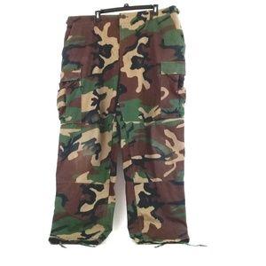 US Army Military Camo Woodland Cargo Pants Size XL